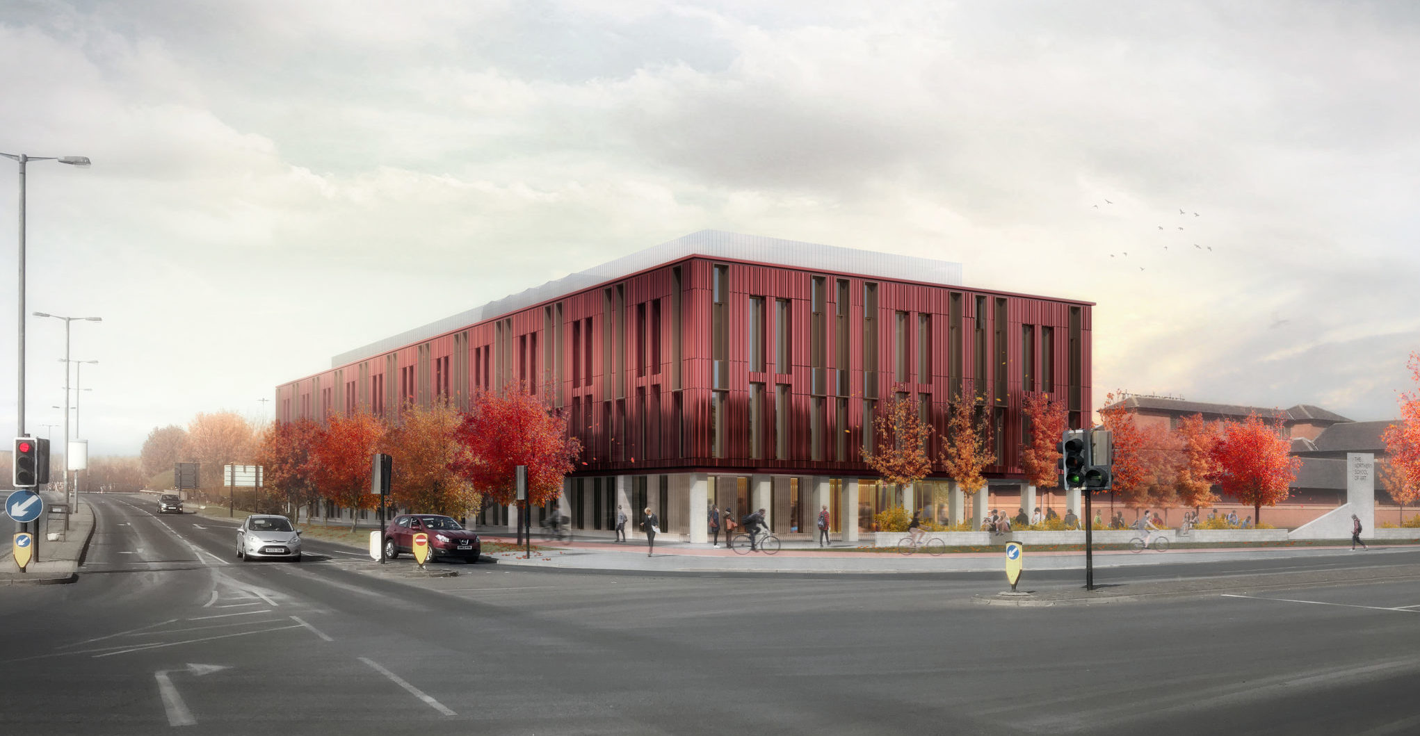 Planning application approved for The Northern School of Art's new £14.5m gateway building in central Middlesbrough